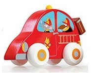 Drevené autíčko Scratch – požiarne auto