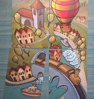 Skladacie pohľadnice - Letom svetom