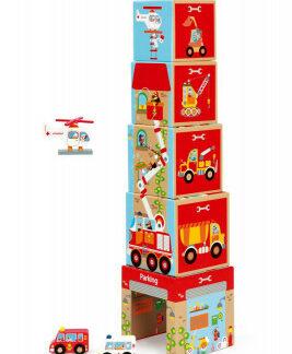 Pyramída Garáž s autíčkami a helikoptérou