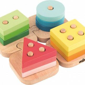 Skladacie tvary na puzzle podložke