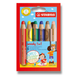 Farbičky Stabilo Woody 3 in 1 - 6 barev