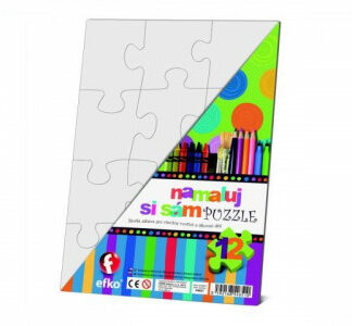 Namaľuj si sám puzzle - obdĺžnik