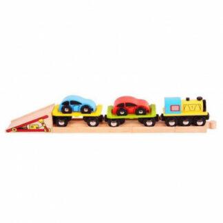 Bijigs - Nákladný vlak s autami a koľajou