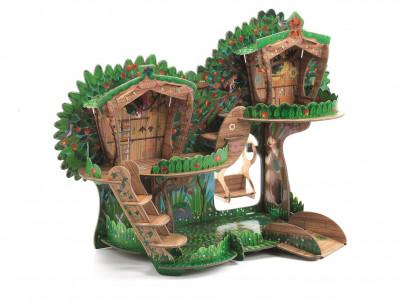3D kartónová skladačka – Stromový dom