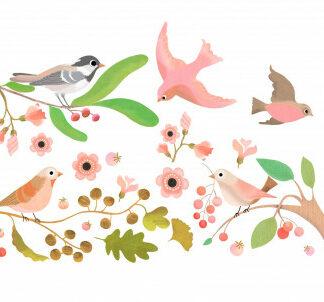 Samolepiace dekorácie na sklo – Vtáčí snem