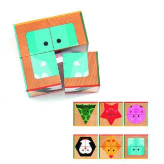 Drevené kocky – geometrické tvary