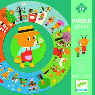 Didaktické puzzle – Medvedíkov rok – 24 ks