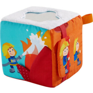 Textilná hracia kocka- hasiči