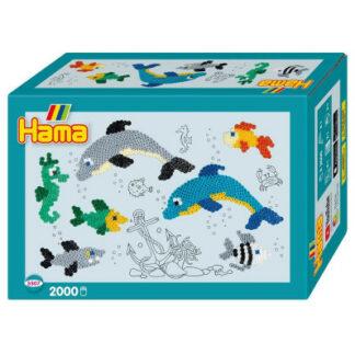 Hama Midi -  malý svet - delfíni - 2000 ks