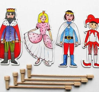 Marionetino – Bábkový balíček s tyčkami – Kráľovská súprava I