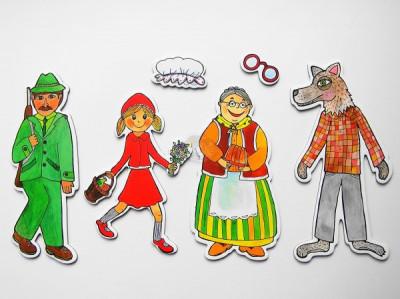 Marionetino - Bábkový balíček bez tyčiek - Červená karkulka