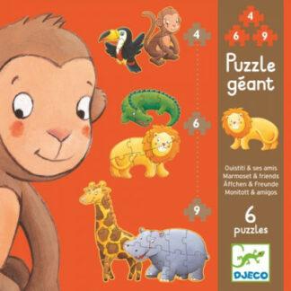 Súprava 6 puzzle pre najmenších Opičiak a jeho kamaráti