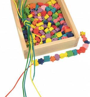 Drevená škatuľka Navliekacie perly