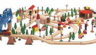 """Vláčikodráha """"Super Train"""" v drevenej škatuli"""