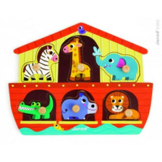 Drevené vkladacie puzzle Noemova archa