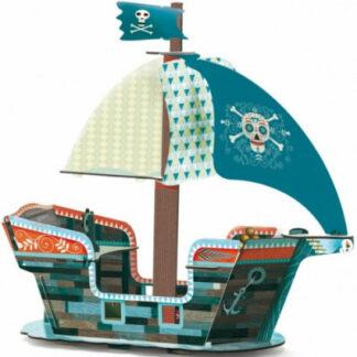 3D kartónová skladačka – Pirátska loď