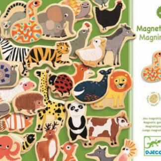 Drevené magnety – 36 ks zvieratiek