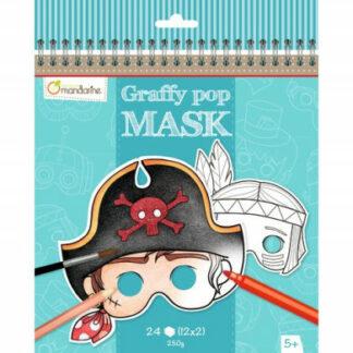 Karnevalové masky na vymaľovanie pre chlapcov