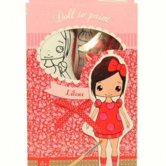Bábika k vymaľovaniu- Lilou