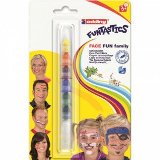Farby na tvár Edding Face Fun Family - 7 farieb