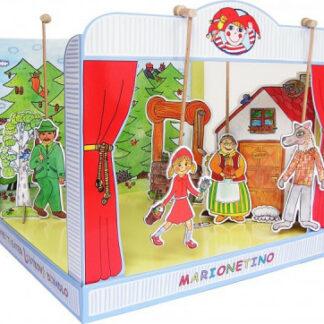 Marionetino - Bábkové divadlo sada s rozprávkou Červená karkulka