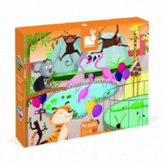 Puzzle dotykové Deň v zoologickej záhrade - s textúrou 20 dielov