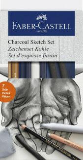 Umelecká sada Faber-Castell GOLDFABER Charcoal sketch - 7ks
