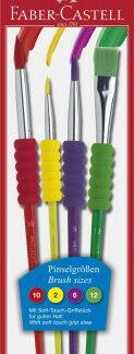 Štetce Faber-Castell Soft touch - 4 ks