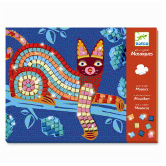 Mozaika – mačka a korytnačka