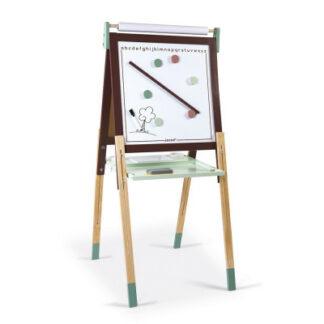 Magnetická obojstranná a polohovateľná tabuľa - hnedá a  zelená