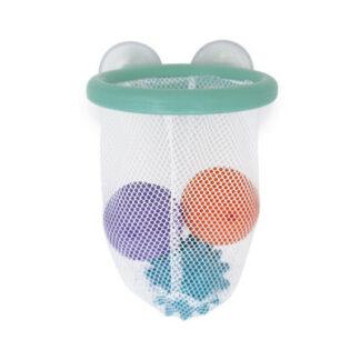 Basketbalový kôš so senzorickými loptičkami - hračka do vody