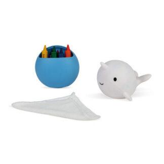 Veľryba – kreslenie do vane s voskovkami