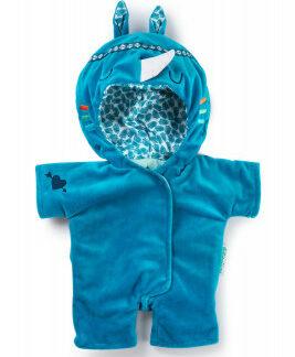 Lilliputiens – modrý overal pre bábiky – nosorožec Marius